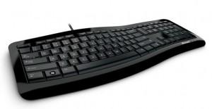 Microsoft Comfort Curve Keyboard 3000 quarter view